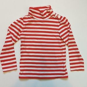Red & White Striped Shirt * Size 4